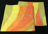 Vintage VERA Neumann Burlington WATERWAYS Bottom Sheet + Pair Pillowcases