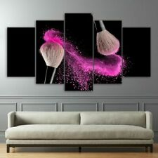 Abstract Makeup Foundation Brush 5 Pieces Canvas Art Print Picture Wall Decor