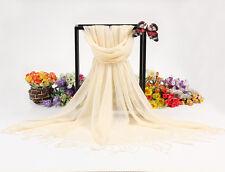 Mens Womens Warm Fashion Cotton Linen Scarves Tassel Fringe Long Scarf Shawl M40