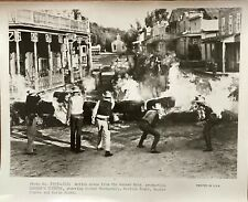 1958 Black & White Photo of a Action Scene in Western Badman's Country