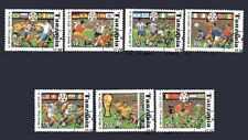 Football Tanzanie (50) série complète 7 timbres oblitérés
