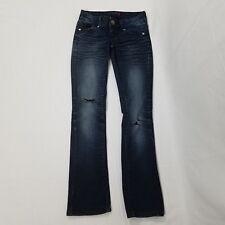 Guess womens jeans size 24 Elliot straight leg distressed dark denim