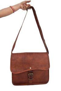 "Genuine Leather Cross-body Messenger Bag Tab/iPad Satchel Handbag Sling Bags 11"""