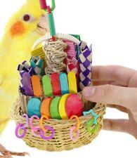 00669 Foraging Basket Bird Toy parrot cage cockatiel conure parakeet african pet