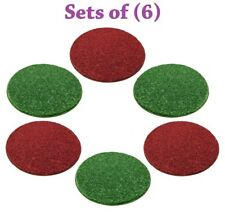 Set of 6 Christmas Crazy Carpet Circle Seats