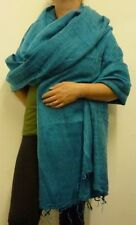 Warm Snug Soft Yak Wool Style Nepalese Himalayan Blanket/Large Shawl: Turquoise