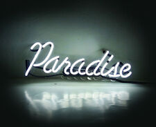 "14""x7""Paradise Neon Sign Light Beer Bar Pub Shop Open Wall Poster Visual Artwork"