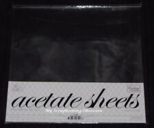 """Couture Creations 'ACETATE SHEETS' 12x12"""" 10pk Clear 0.25mm Thickness"""
