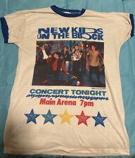 Vintage 1990 Nkotb New Kids On The Block Rocknites Pajama Sleep Shirt Blue