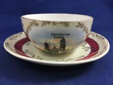 Vintage Pforzheim Germany Saalbau  Small Cup and Saucer Set Demitasse