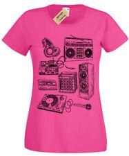 Retro Music Instruments SCREEN PRINTED Womens T Shirt S-5XL dj band old school