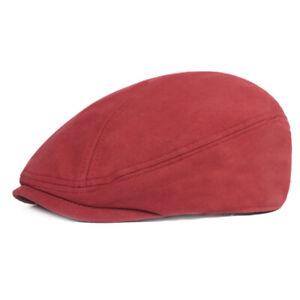 Men Solid Beret Newsboy Hat Summer Casual Sun Driving Golf Adjustable Flat Cap