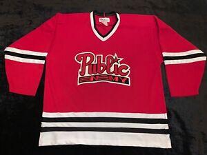 Vintage Public Enemy Rap Hip hop Hockey Jersey XL