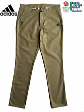 ADIDAS TEAM GB RIO 2016 ELITE ATHLETE COTTON CHINO PANTS GOLF TROUSERS Size 38""