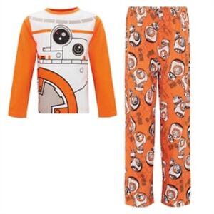Avon Boys PJs Star Wars BB-8  pyjamas, orange/white,5-6 years, new, sealed