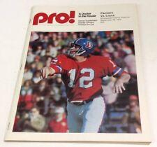 1974 Pro Football Program Packers Vs Lions September 29  Charley Johnson