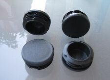 """50 - 1 1/2"""" Round Tubing Plastic Plug Cap, 1-1/2 Inch 11-19 Ga, 11/2 Pipe Dia"""