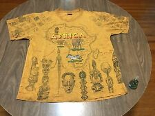 Baltimore Zoo Africa Continent Tie Dye All Over Print XL T Shirt