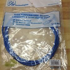 NEW CP 7FT 550MHZ CAT6 Patch Cord networking Cable wire 568B switch router rack