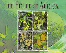 Gambia 2013 MNH Fruit of Africa 4v M/S Mango Baobab Kiwano Plants Trees Stamps