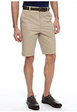 NWT Made Cam Newton 50 Waist Plain Front Cotton & Spandex Khaki Shorts $60. msrp