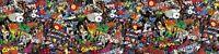 Marvel Comic Stickerbombe Folie 1300mm x 300mm (Superheld / VW / eurojdm) Farbe