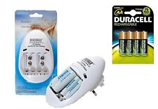 BATTERY CHARGER AA/AAA/PP3 9v+ 4 x AA DURACELL 2500 mAh DURALOCK Rechargeables