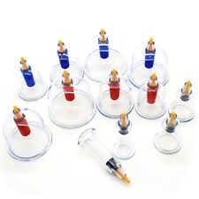 12 Vacuum Suction Cups Cupping Set Chinese Massage Medical Body Healthy Therapy