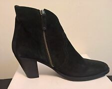 Shoe 'N' More Women Black Suede Side Zip Ankle Boots size 42