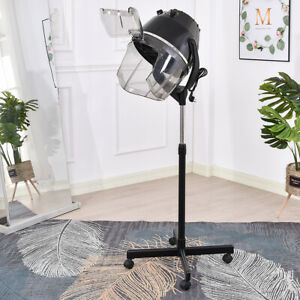 Hairdressing Stand Dryer professional Swivel Wheels  Adjustable With Timer 1000W