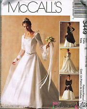 Bridal Wedding Dress Pattern McCall's 3449 14-18 Recent Vintage Uncut Sewing
