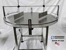 """DEPENDABLE EQUIPMENTS ACCUMULATION TURNTABLE-48"""" DIAMETER WITH UNSCRAMBLER"""