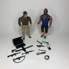 Vintage 1983 Lot Cannell A-Team Murdock & Mr. T. Ba Baracus Action Figure Bundle