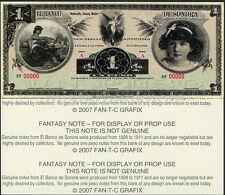 SUPERB SONORA, MEXICO 1 PESO ARTISTIC CONCEPT FANTASY ART NOTE - ONLY 75 MADE!