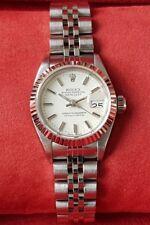 Rolex ladies datejust Steel and white gold bezel 67193