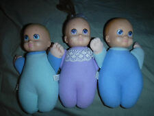 "1994 Cap Toys Baby Doll 8"" Quints Baby Blue Toy Twins Triplets 2 Boys 1 Girl"
