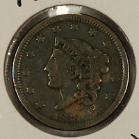 1838 1c Coronet Head Large Cent SKU-Y2604