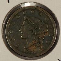 1838 1c Coronet Head Large Cent SKU-Y2604
