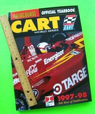 1997, 98 AUTOCOURSE CART OFFICIAL YEARBOOK 208-Pgs H-C w/ DJ RACING ANNUAL Xlnt+