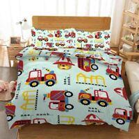 Red Truck Bear 3D Printing Duvet Quilt Doona Covers Pillow Case Bedding Sets