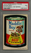 1973 Topps Wacky Packages Maddie Boy 1st Series White Back PSA 7 NM Card