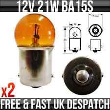 12v 21 W Ba15s moto, moto ámbar laterales y luces traseras bombillas p207ma X2