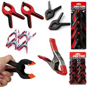 "Heavy Duty Spring Metal Plastic Strong Clamp Quick Grip Range 2"" 3"" 4"" 6"" 9"" UK"