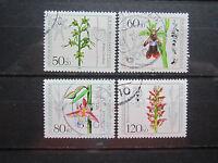 Berlin 1984 Orchideen kompletter Satz gestempelt (O139)