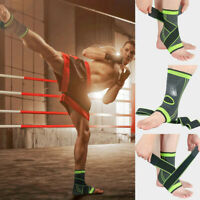 Adjustable Elastic Ankle Sleeve Elastic Ankle Brace Guard Foot Support Sports