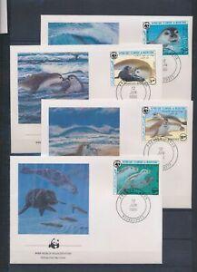 XC79098 Mauritania 1986 WWF seals animals sealife FDC's used
