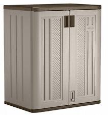 Outdoor Utility Storage Cabinet Resin Base 36 Shed Tool Locker Garage Home Yard