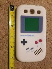 S3 Samsung Galaxy soft phone silicone flexible case Gameboy retro white