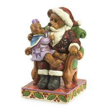 Jim Shore & Boyds Bears Simple Santa Bear Figurine ~ Santa w/Holly ~ 4035827