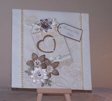 Wedding Vintage/rustic handcrafted card, With verse.